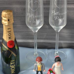 copas bodas grabadas figuras playmobil regalo bodas