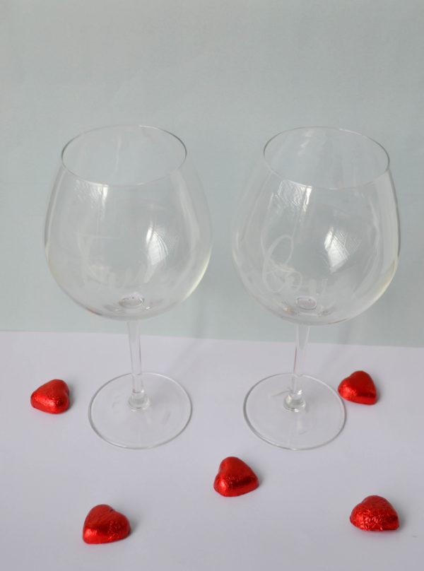 copas de vino cristal para pareja true love regalo amor